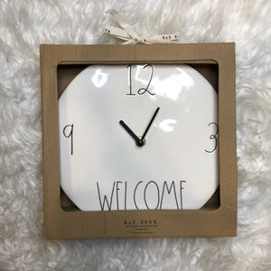 Rae Dunn Ceramic Welcome Clock